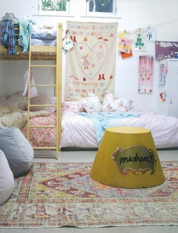 Stylish bohemian kids bedroom ideas Cute kid room ideas