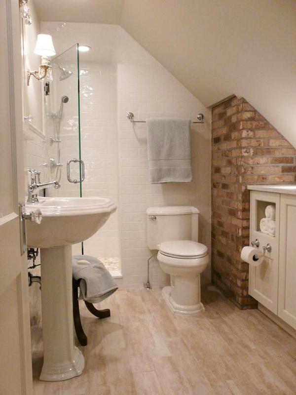 Tiny attic bathroom ideas for Tiny toilet design