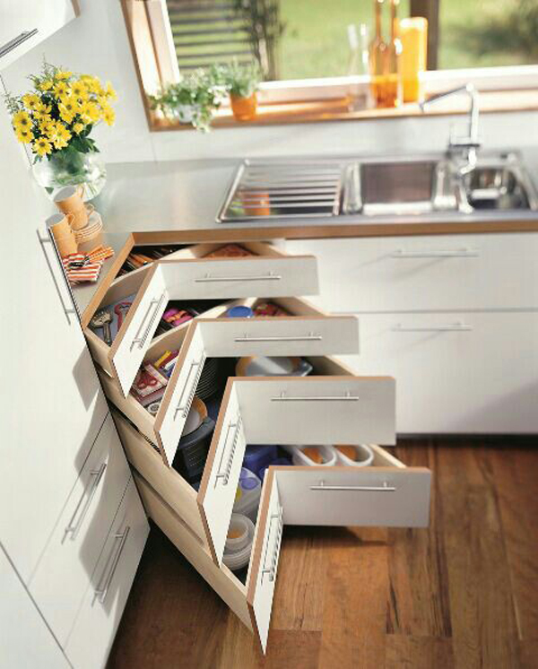 15 smart kitchen organization and saving ideas home for Unique kitchen designs