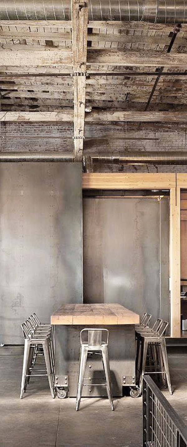 25 industrial dining room with masculine interiors home for Decoracion industrial vintage