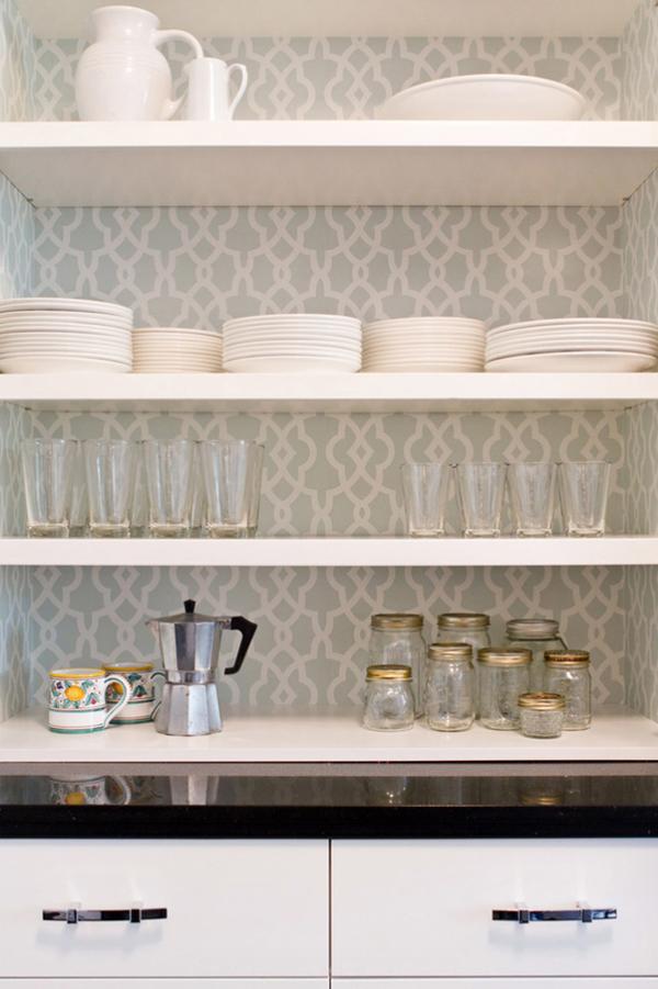 vintage kitchen cabinet wallpaper
