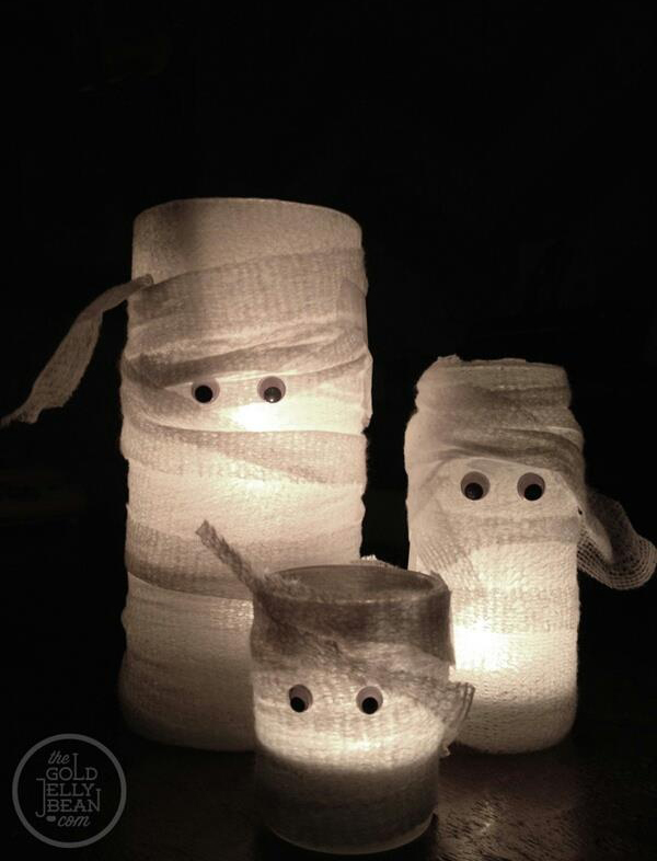Diy Halloween Mason Jars Ghost Lights