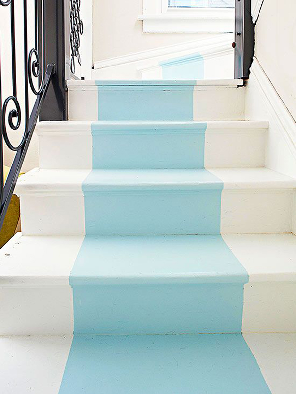 25 pretty painted stairs ideas home design and interior for Painted stairs with runner