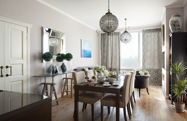Beautiful apartment with 100 square meters in moscow home design and