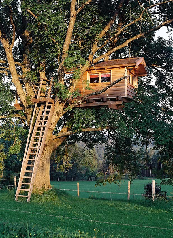 awesome treehouse backyard garden