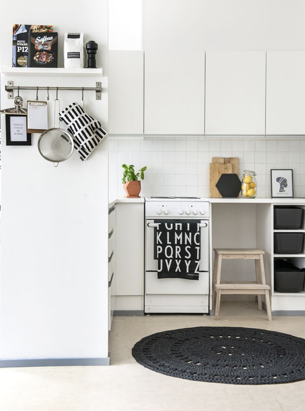 beautiful and small scandinavian kitchens. Black Bedroom Furniture Sets. Home Design Ideas