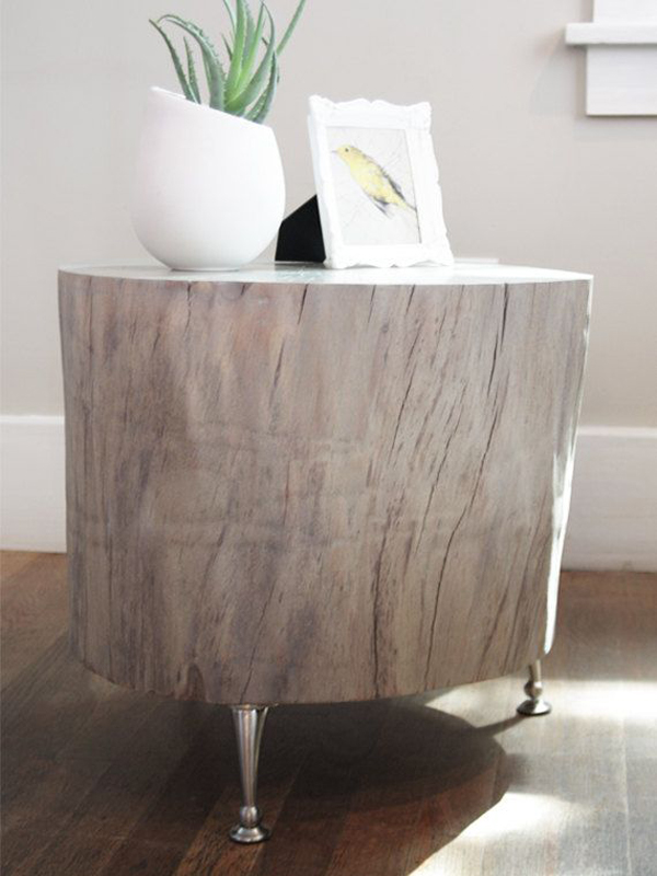 20 Creative DIY Side Tables   Home Design And Interior