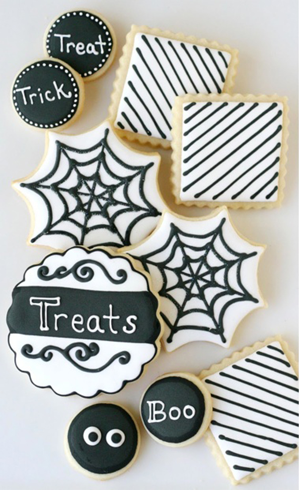 Black and white halloween dessert tables - Halloween black and white ...