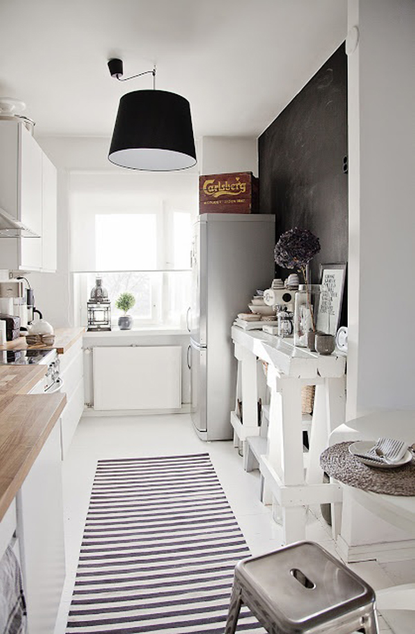 Black And White Scandinavian Kitchen Room