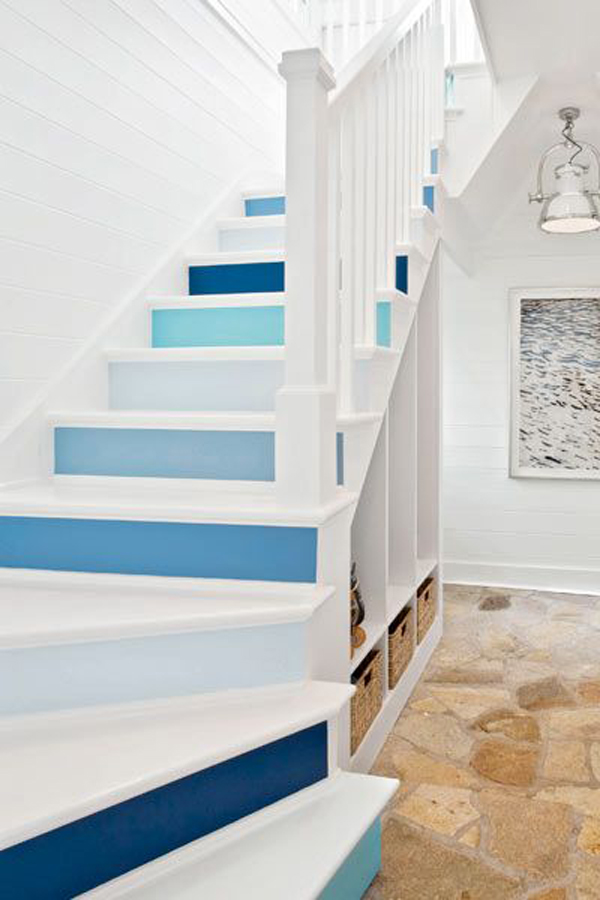 25 Pretty Painted Stairs Ideas | Home Design And Interior