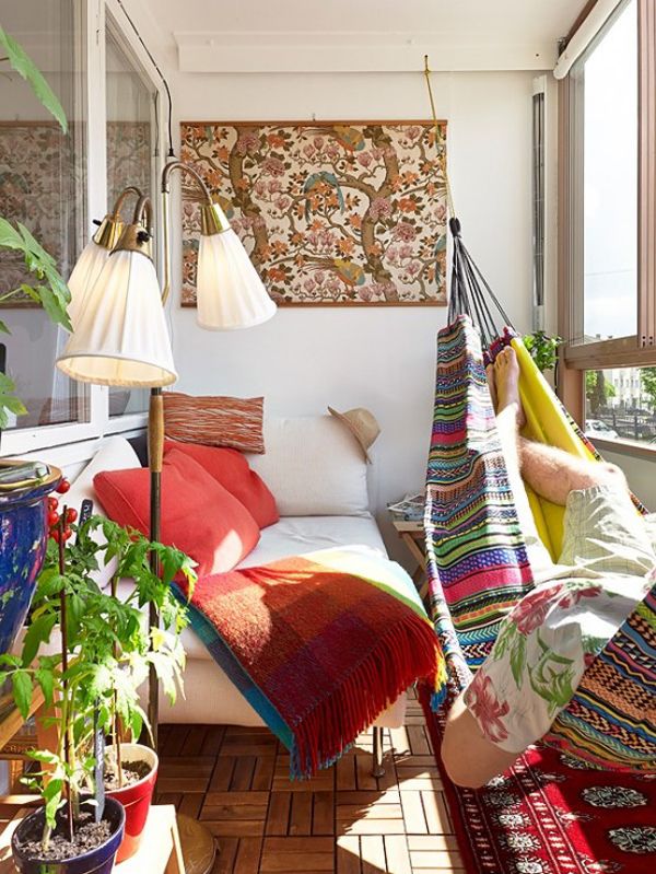 Boho chic summer balcony design for Decorate your balcony