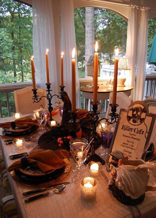 30 Dramatic Halloween Table Decor Ideas Home Design And