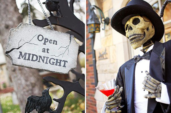 Cool and scary outdoor halloween decorations for 90 cool outdoor halloween decorating ideas