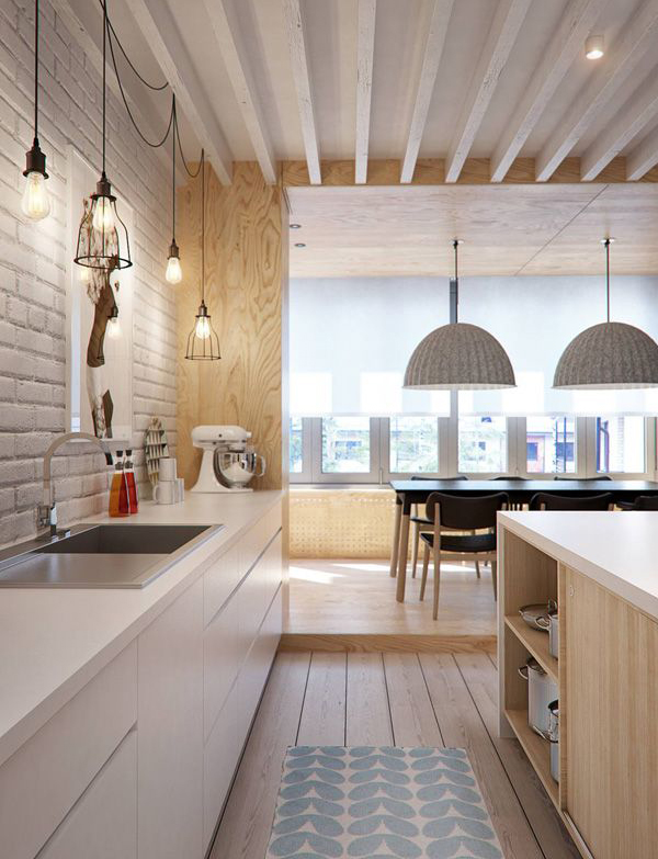 Cozy Wooden Scandinavian Kitchens Homemydesign