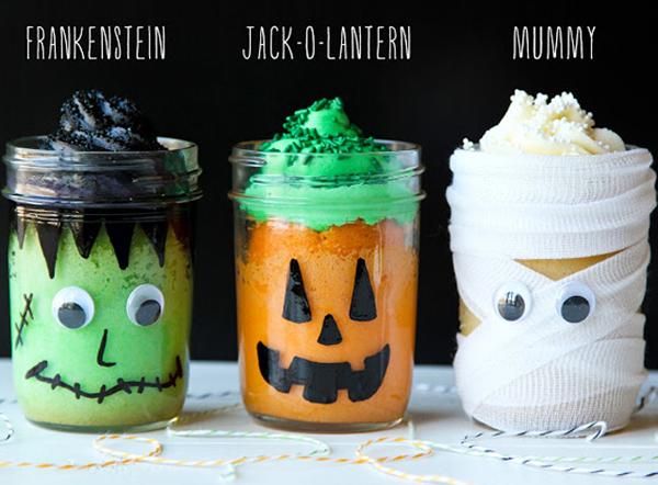 cute halloween mason jars cakesjpg - Halloween Crafts At Home