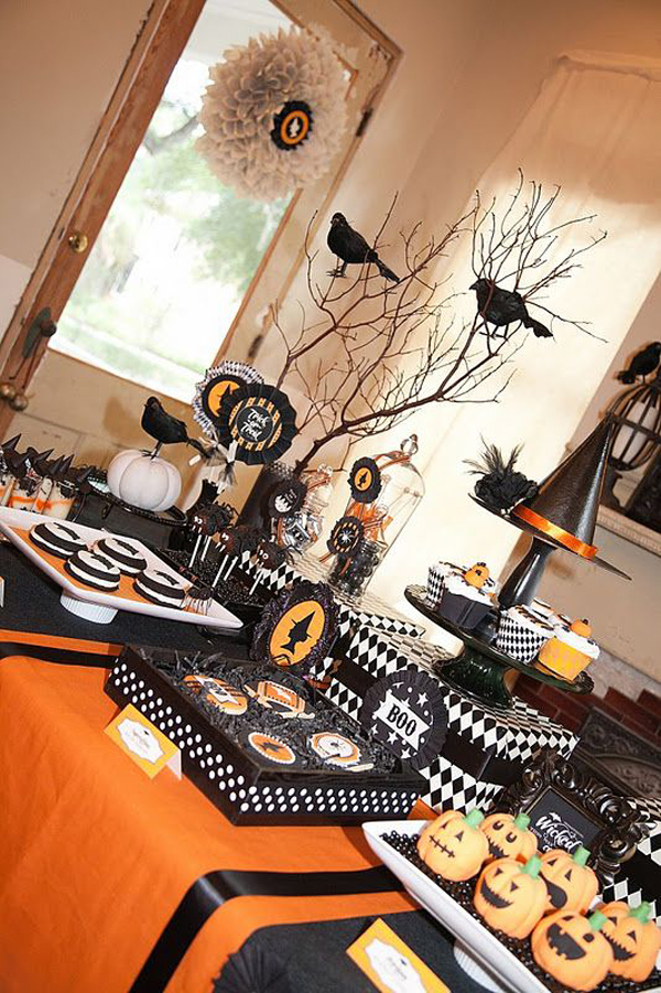 30 dramatic halloween table decor ideas home design and - Decoration de table pour halloween ...