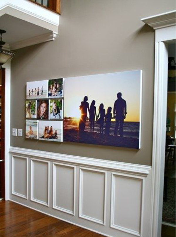Love family photo wall decor ideas - Picture wall ideas for living room ...