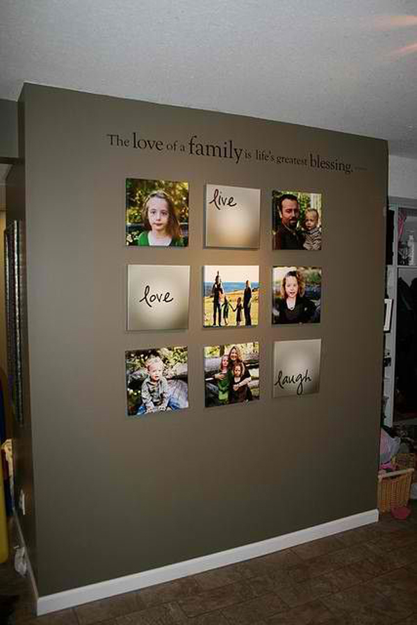 Family Wall Decor Diy : Love family photo wall ideas