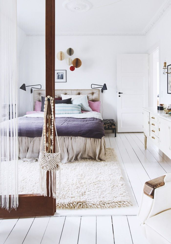 Modern gypsy bedroom style for Home decor minimalist modern