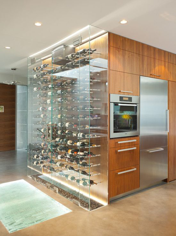 25 functional home wine storage ideas home design and for Wine room ideas
