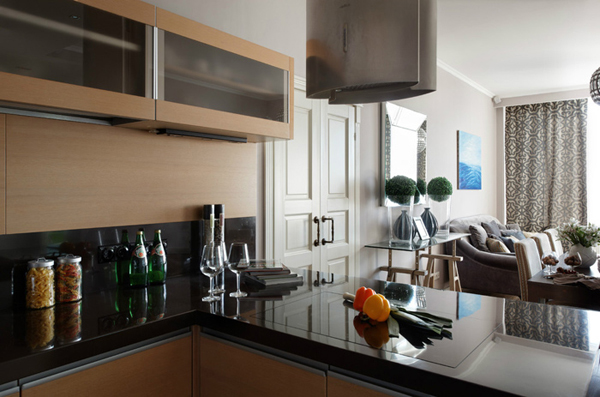 Modern kitchen apartments - Interior designsquare meter apartment ...
