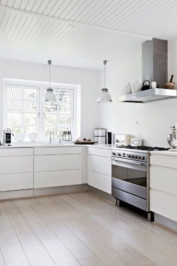 35 warm and cozy scandinavian kitchen ideas home design for Kitchen designs modern white