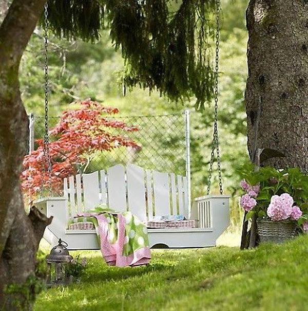 outdoor swing garden ideas