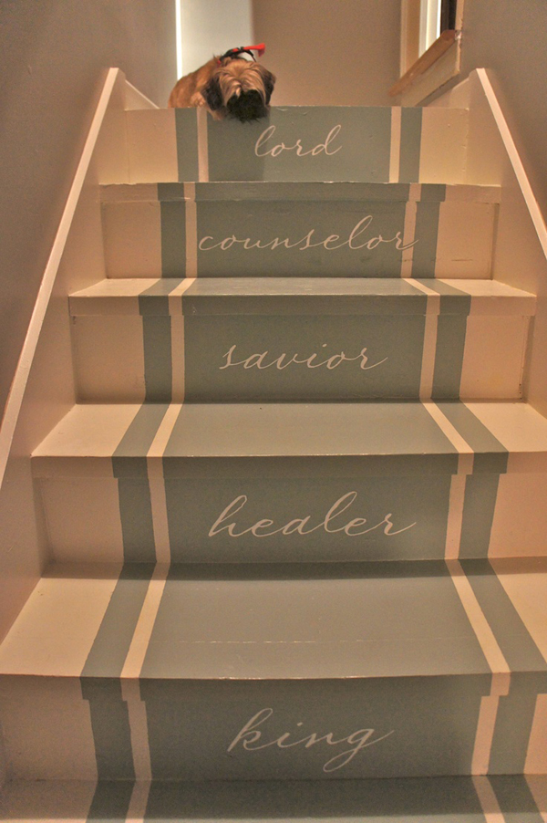 Steps To Paint A Room: 25 Pretty Painted Stairs Ideas