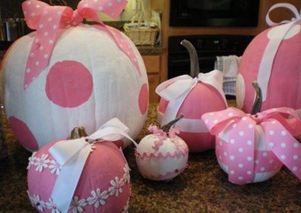 Pink Halloween Pumpkins Collection