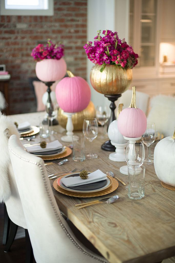 pink halloween table decoration. Black Bedroom Furniture Sets. Home Design Ideas