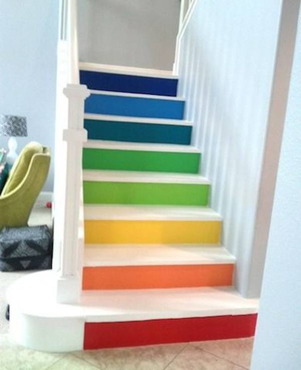 I Have Seen Various Types Of Stairs With Simple Colors And Shapes, But I  Think That The Painted Stairs Will Transform Into A More Pretty Home Decor.