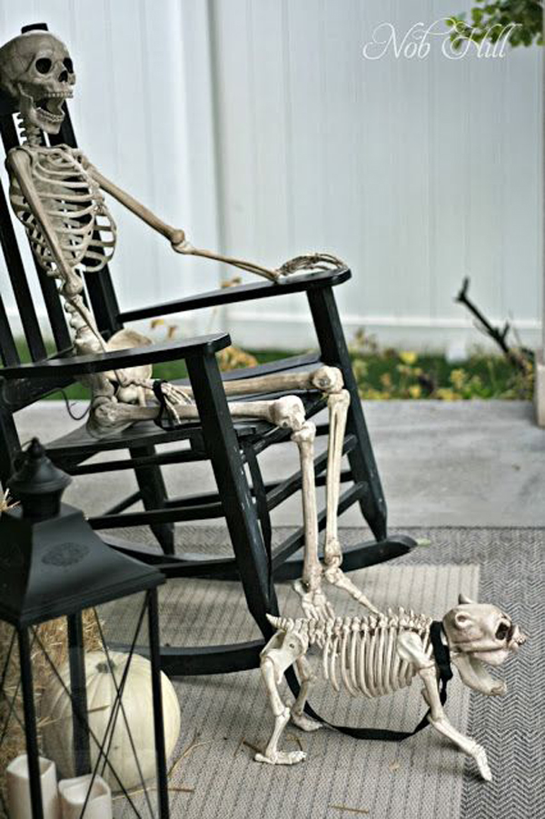 Skull outdoor halloween ideas for 90 cool outdoor halloween decorating ideas