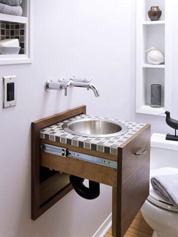 Bathroom Design For Small Spaces : Brilliant secret storage ideas home design and interior