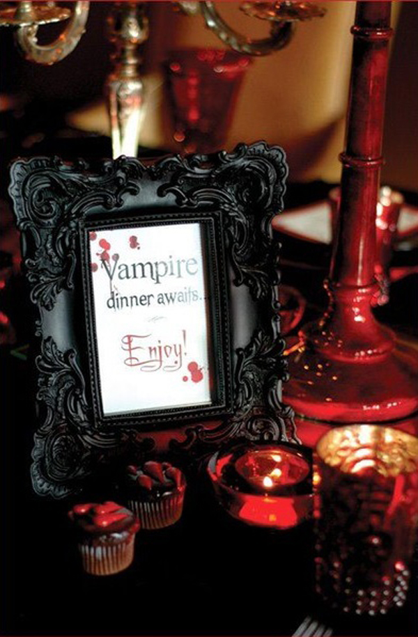 vampire halloween table decoration - Vampire Halloween Decorations