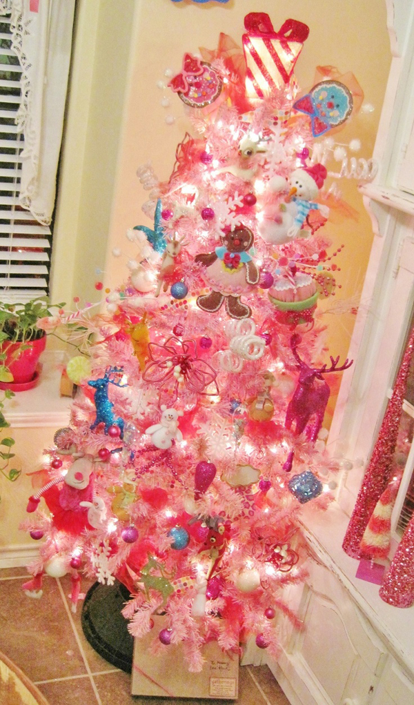 Awesome pink christmas tree ideas home design and