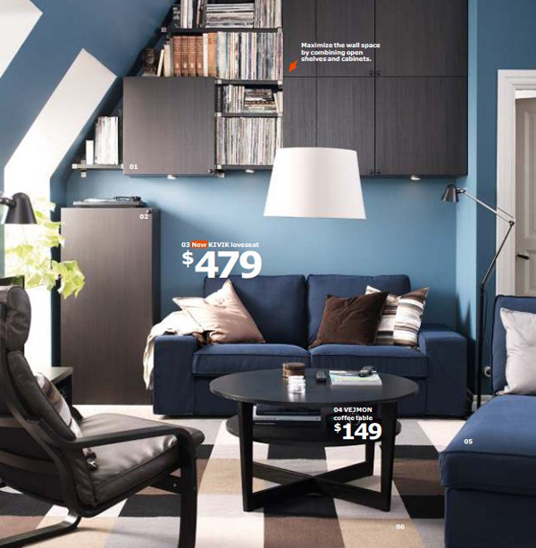 IKEA Attic Living Room 2015