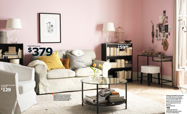 Ikea pink living room 2015 for Ikea room ideas 2015