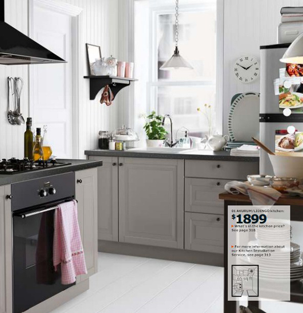 Pin pictures ikea kitchens on build your kitchen area l on pinterest - Small kitchens ikea ...
