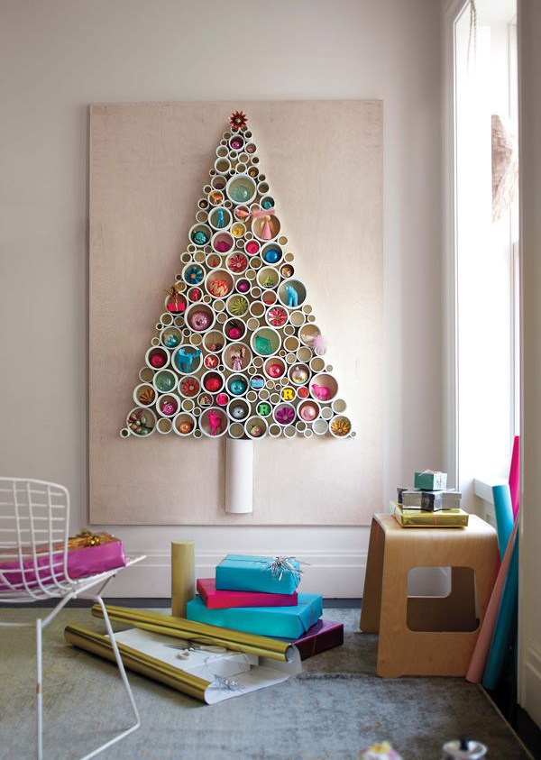 Pvc christmas tree ideas Creative christmas trees to make