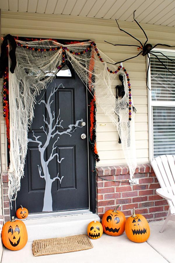 Scary halloween door decorating contest ideas - Awesome Halloween Front Doors
