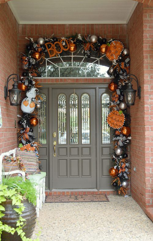 Beautiful Halloween Front Door Ideas Homemydesign