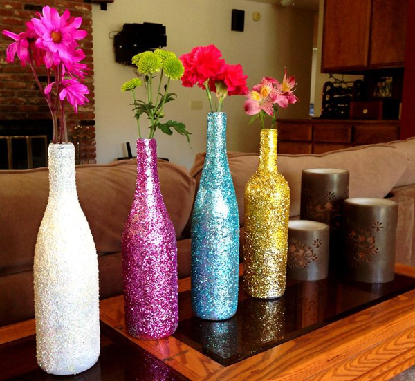 20 creative diy wine bottle ideas home design and interior for Empty bottle decoration ideas