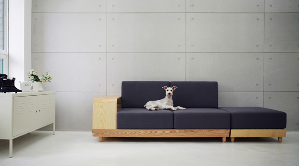 Black dog house sofa Dog house sofa