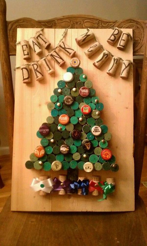 Bottle Cap Christmas Trees