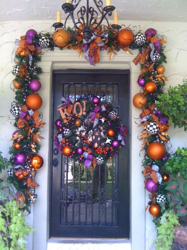 35 awesome halloween front door ideas home design and for Decoration jardin halloween