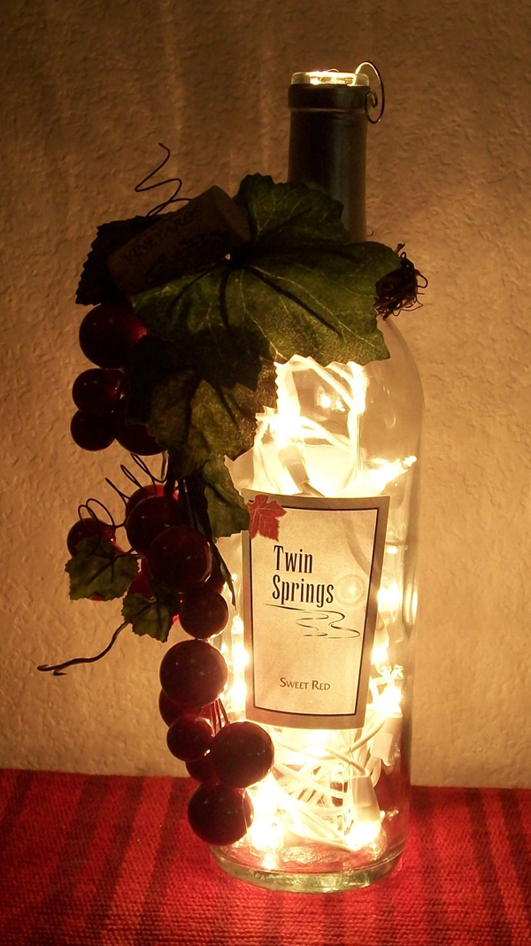 20 creative diy wine bottle ideas home design and interior for Wine home decorations