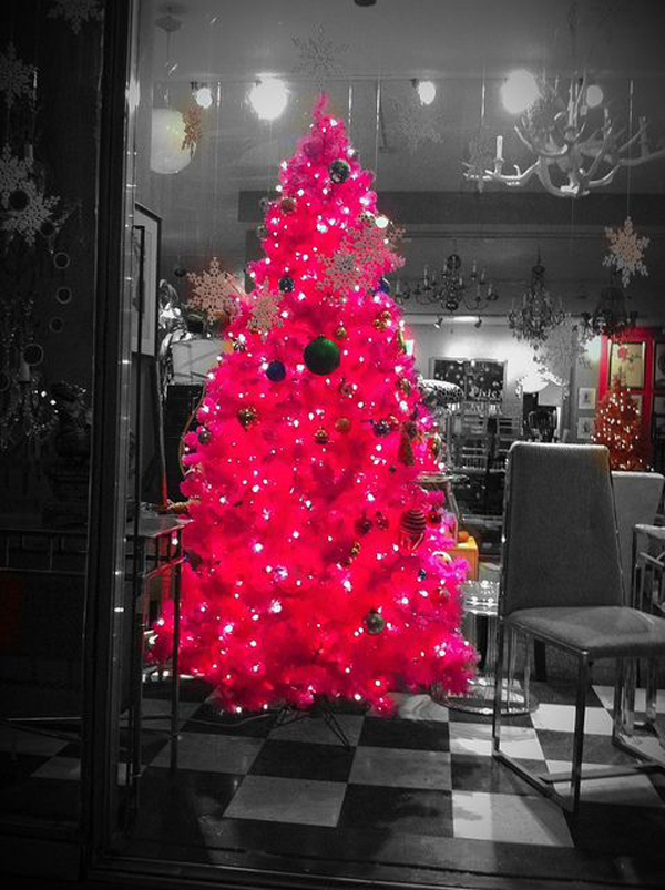 elegant pink christmas tree decor ideas