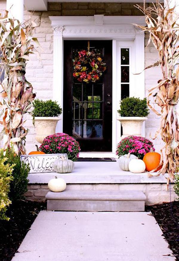 Fall Halloween Front Door Ideas