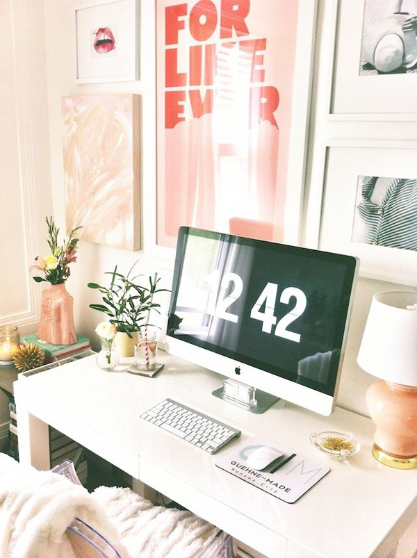 Girly Girl Home Office