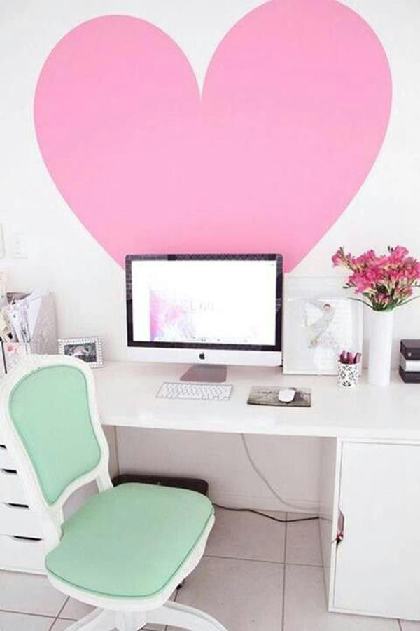 girly-workspace-with-love-wallpaper